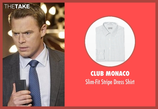 Club Monaco white shirt from The Blacklist seen with  Donald Ressler (Diego Klattenhoff)