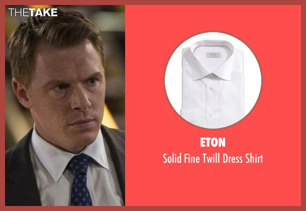 Eton	 white shirt from The Blacklist seen with  Donald Ressler (Diego Klattenhoff)