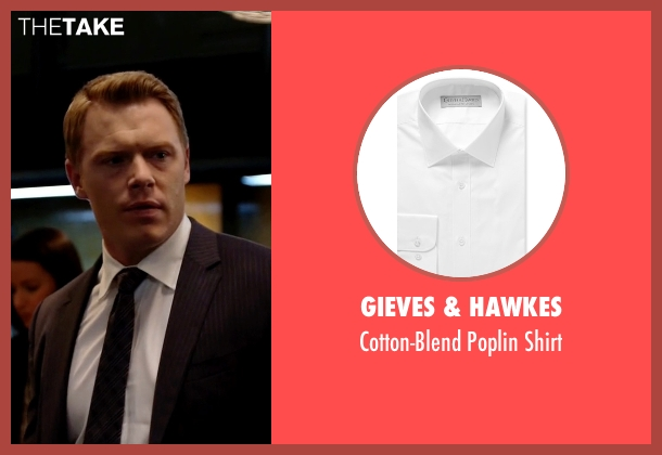 Gieves & Hawkes white shirt from The Blacklist seen with  Donald Ressler (Diego Klattenhoff)