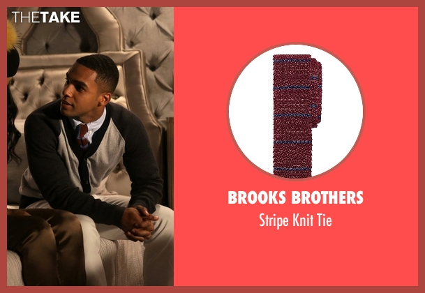 Brooks Brothers red tie from Scream Queens seen with  Earl Grey  (Lucien Laviscount)