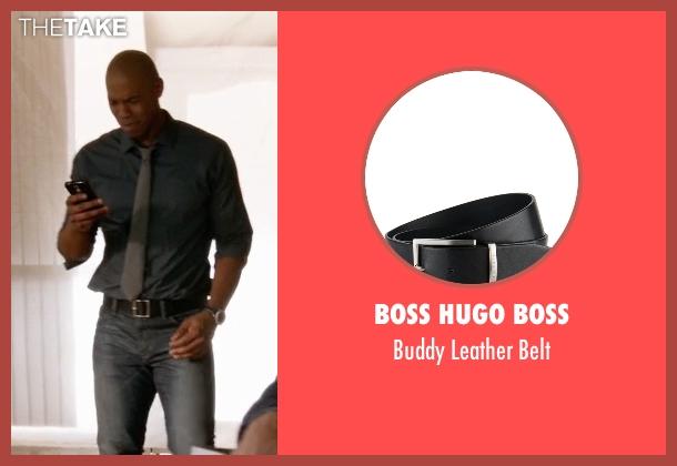 Boss Hugo Boss black belt from Supergirl seen with  James Olsen (Mehcad Brooks)