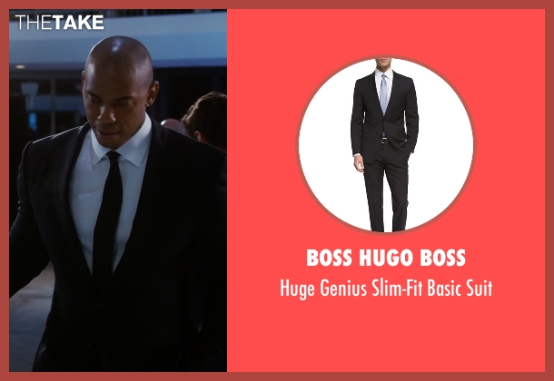 Boss Hugo Boss black suit from Supergirl seen with  James Olsen (Mehcad Brooks)