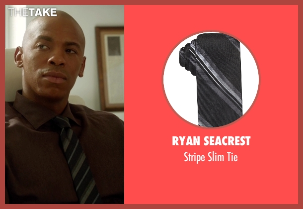 Ryan Seacrest black tie from Supergirl seen with  James Olsen (Mehcad Brooks)