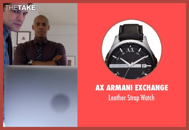 Victorinox Swiss Army black watch from Supergirl seen with  James Olsen (Mehcad Brooks)