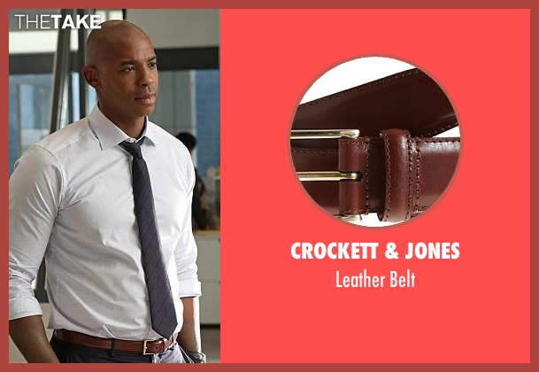 Crockett & Jones brown belt from Supergirl seen with  James Olsen (Mehcad Brooks)