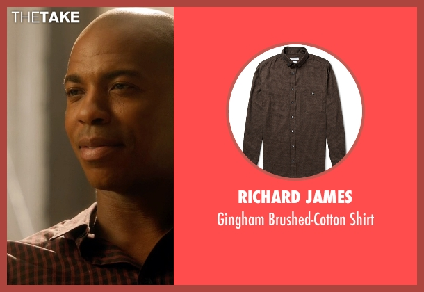 Richard James brown shirt from Supergirl seen with  James Olsen (Mehcad Brooks)