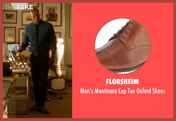 Florsheim brown shoes from Supergirl seen with  James Olsen (Mehcad Brooks)