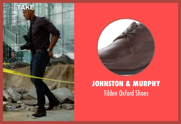 Johnston & Murphy brown shoes from Supergirl seen with  James Olsen (Mehcad Brooks)