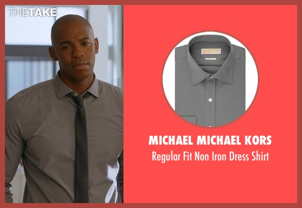 Michael Michael Kors gray shirt from Supergirl seen with  James Olsen (Mehcad Brooks)