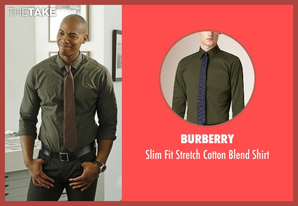 Burberry green shirt from Supergirl seen with  James Olsen (Mehcad Brooks)