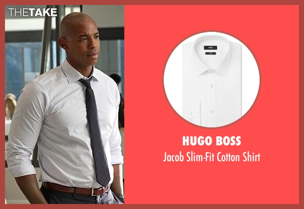 Hugo Boss white shirt from Supergirl seen with  James Olsen (Mehcad Brooks)