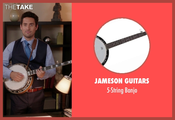 Jameson Guitars banjo from The Mindy Project seen with  Jeremy Reed (Ed Weeks)