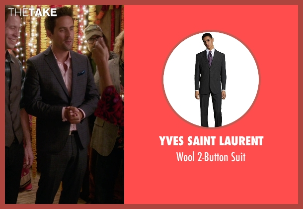 Yves Saint Laurent black suit from The Mindy Project seen with  Jeremy Reed (Ed Weeks)