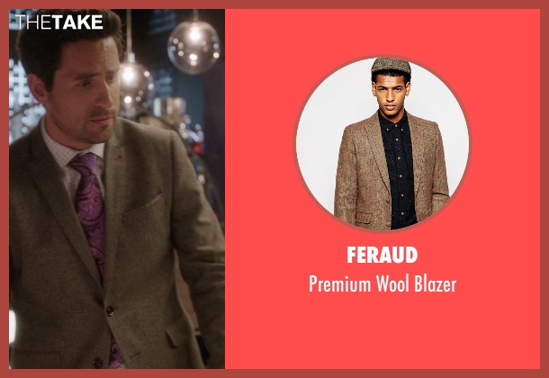 Feraud brown blazer from The Mindy Project seen with  Jeremy Reed (Ed Weeks)