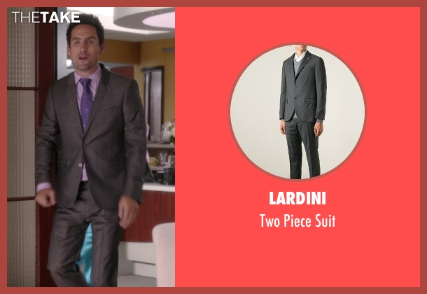 Lardini gray suit from The Mindy Project seen with  Jeremy Reed (Ed Weeks)