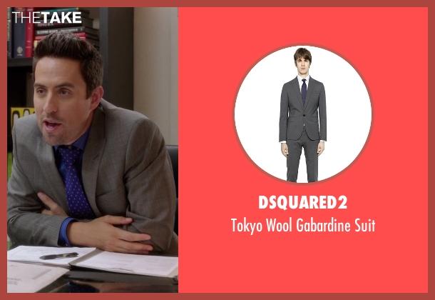 Dsquared2 gray suit from The Mindy Project seen with  Jeremy Reed (Ed Weeks)