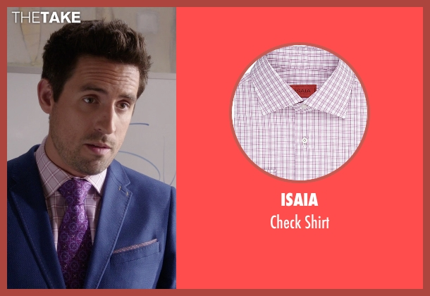 Isaia pink shirt from The Mindy Project seen with  Jeremy Reed (Ed Weeks)