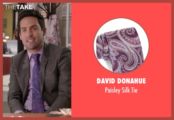 David Donahue purple tie from The Mindy Project seen with  Jeremy Reed (Ed Weeks)