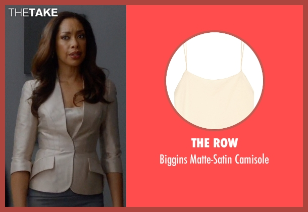 The Row beige camisole from Suits seen with  Jessica Pearson (Gina Torres)