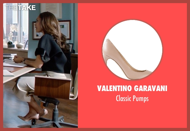 Valentino Garavani beige pumps from Suits seen with  Jessica Pearson (Gina Torres)