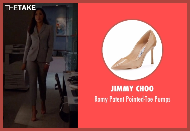 Jimmy Choo beige pumps from Suits seen with Jessica Pearson (Gina Torres)