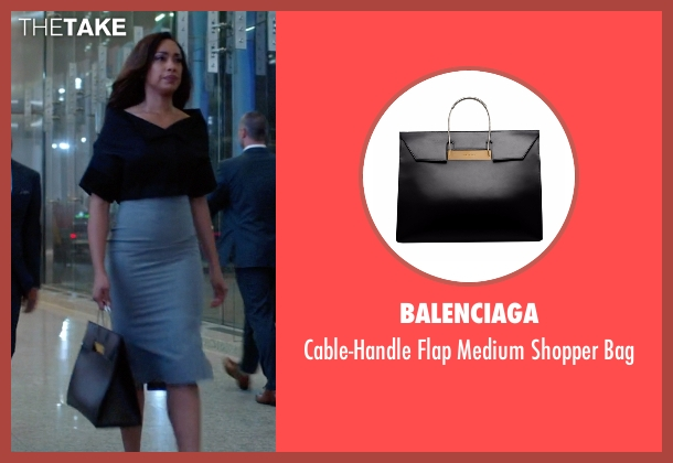 Balenciaga black bag from Suits seen with  Jessica Pearson (Gina Torres)