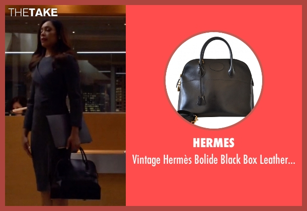 Hermes black bag from Suits seen with  Jessica Pearson (Gina Torres)