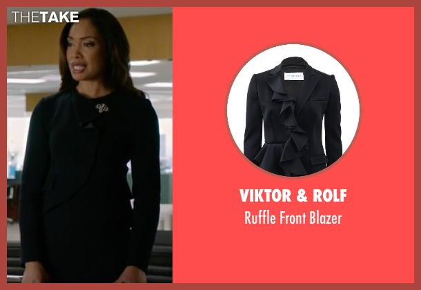 Viktor & Rolf black blazer from Suits seen with Jessica Pearson (Gina Torres)
