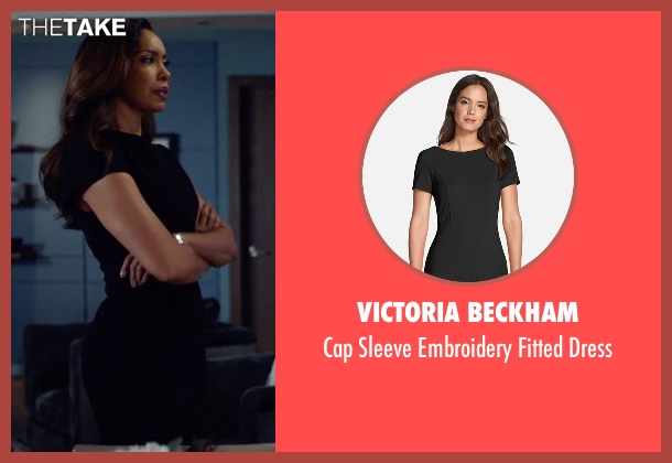 Victoria Beckham black dress from Suits seen with  Jessica Pearson (Gina Torres)