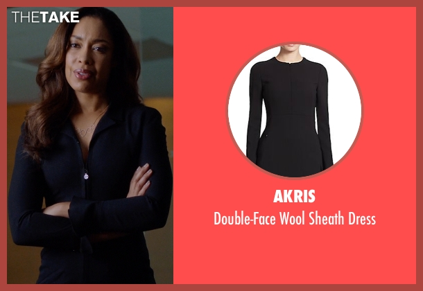 Akris black dress from Suits seen with  Jessica Pearson (Gina Torres)