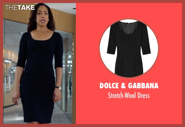 Dolce & Gabbana black dress from Suits seen with  Jessica Pearson (Gina Torres)