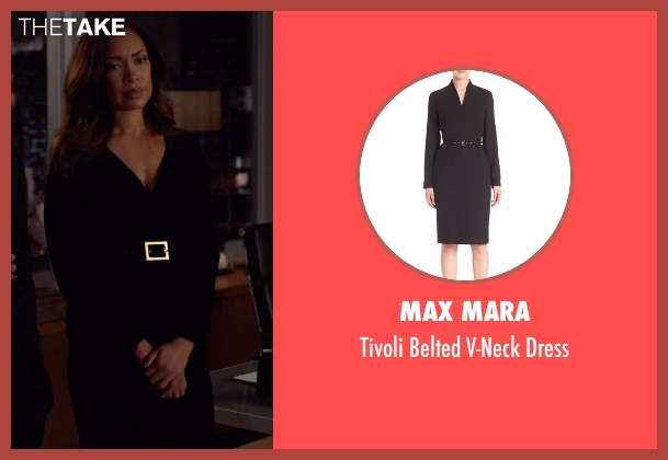 Max Mara black dress from Suits seen with  Jessica Pearson (Gina Torres)