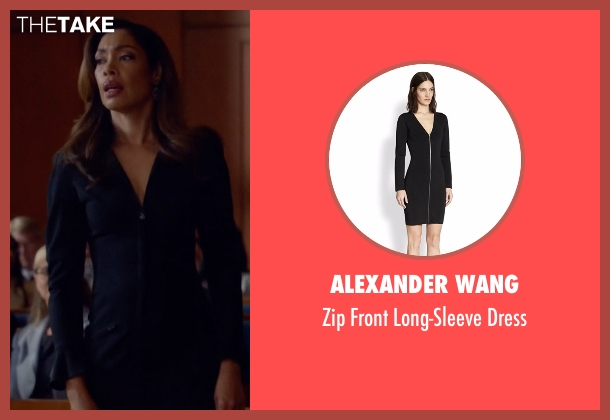 Alexander Wang  black dress from Suits seen with  Jessica Pearson (Gina Torres)
