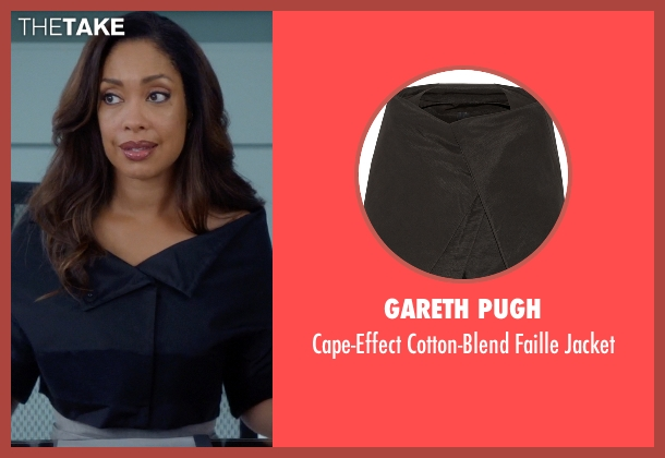 Gareth Pugh black jacket from Suits seen with  Jessica Pearson (Gina Torres)