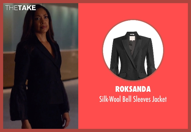 Roksanda black jacket from Suits seen with  Jessica Pearson (Gina Torres)