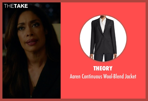 Theory black jacket from Suits seen with Jessica Pearson (Gina Torres)