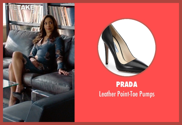 Prada black pumps from Suits seen with  Jessica Pearson (Gina Torres)