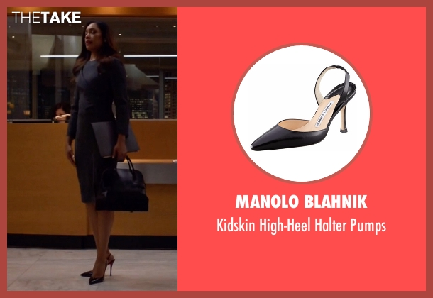 Manolo Blahnik black pumps from Suits seen with  Jessica Pearson (Gina Torres)