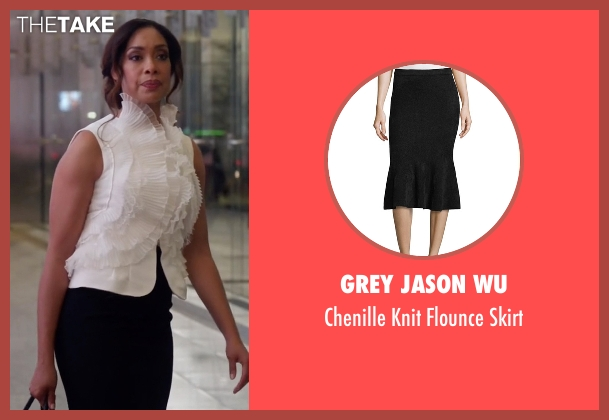 Grey Jason Wu black skirt from Suits seen with  Jessica Pearson (Gina Torres)