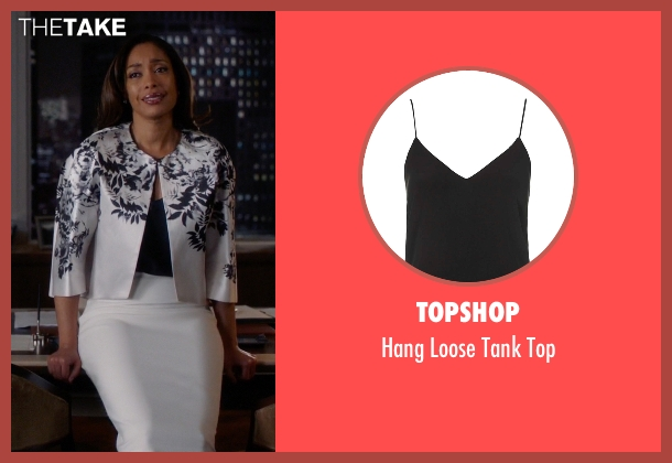 Topshop black top from Suits seen with Jessica Pearson (Gina Torres)