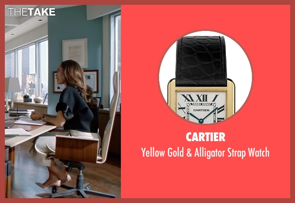 Cartier black watch from Suits seen with  Jessica Pearson (Gina Torres)