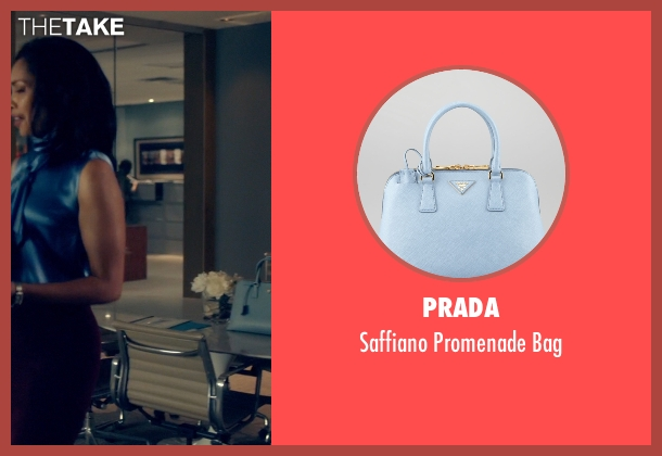 Prada blue bag from Suits seen with Jessica Pearson (Gina Torres)