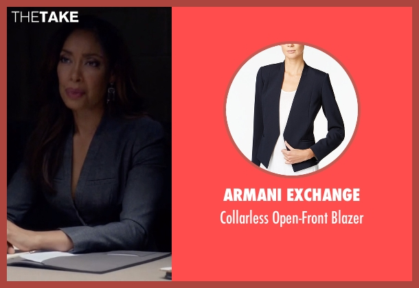 Armani Exchange blue blazer from Suits seen with  Jessica Pearson (Gina Torres)