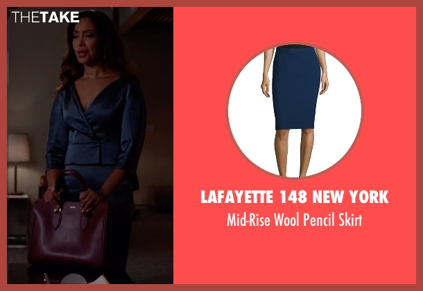 Lafayette 148 New York blue skirt from Suits seen with  Jessica Pearson (Gina Torres)