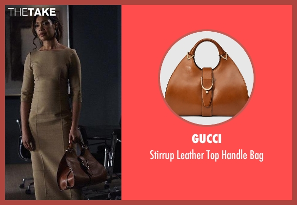 Gucci brown bag from Suits seen with  Jessica Pearson (Gina Torres)