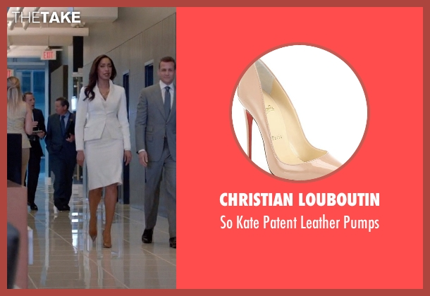 Christian Louboutin brown pumps from Suits seen with  Jessica Pearson (Gina Torres)
