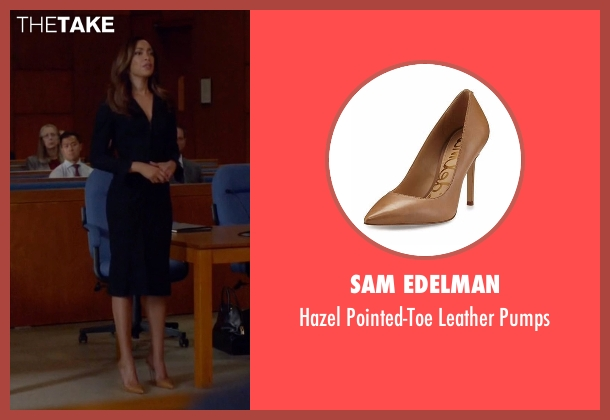 Sam Edelman brown pumps from Suits seen with  Jessica Pearson (Gina Torres)