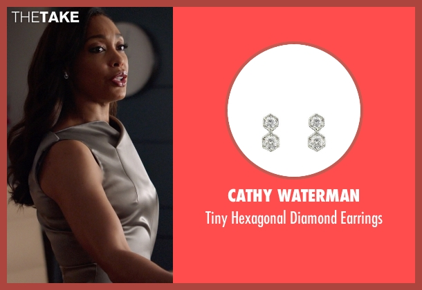 Cathy Waterman earrings from Suits seen with  Jessica Pearson (Gina Torres)