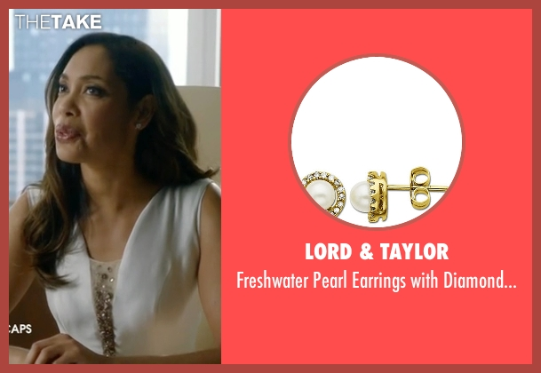 Lord & Taylor gold accent from Suits seen with  Jessica Pearson (Gina Torres)