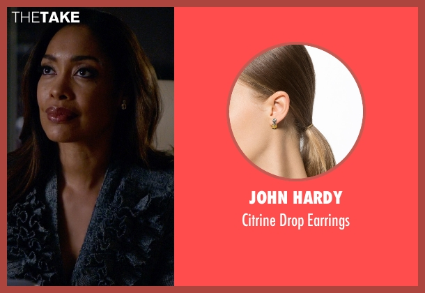 John Hardy gold earrings from Suits seen with  Jessica Pearson (Gina Torres)
